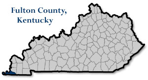 Map of Kentucky, highlighting Fulton County